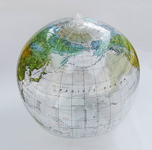 Jet Creations 36 Inflatable Globe - Clear Topographic by Jet Creations