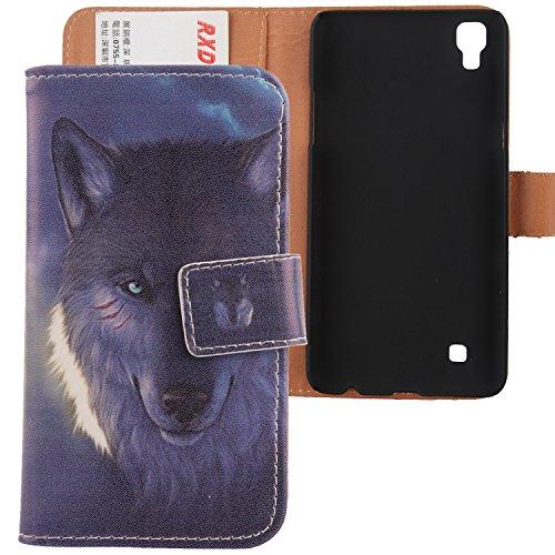 Lankashi PU Flip Leder Tasche Hülle Hülle Cover Schutz Handy Etui Skin Für LG K220 X Power 5.3