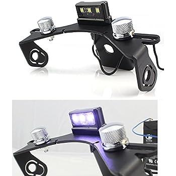 FATExpress motorrad bike anzahl cnc aluminium kurze kennzeichenhalter halterung mit wei/ßem r/ücklicht f/ür 2013-2016 Yamaha FZ MT 09 MT-09 FZ-09 MT09 FZ09 2014 2015 13-16