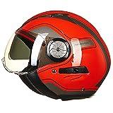 AR-Meitonsy Open Face Moto Scooter Casque Vintage Casque Moto Unisexe Casques d'équitation 5 M