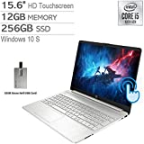 "2020 HP Pavilion 15.6"" HD Touchscreen Laptop Computer, 10th Gen Intel Core i5-1035G1, 12GB RAM, 256GB PCIe SSD, Intel UHD Graphics, HD Audio, HD Webcam, USB-C, Win 10S, Silver, 32GB Snow Bell USB Card"