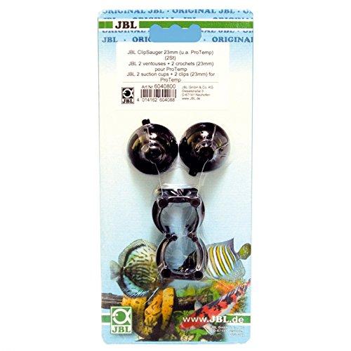 JBL zuignap w.clip (12 mm), 2 stuks, rubberen zuignappen met clips voor objecten met 12 mm, For 23-28 mm, Zwart