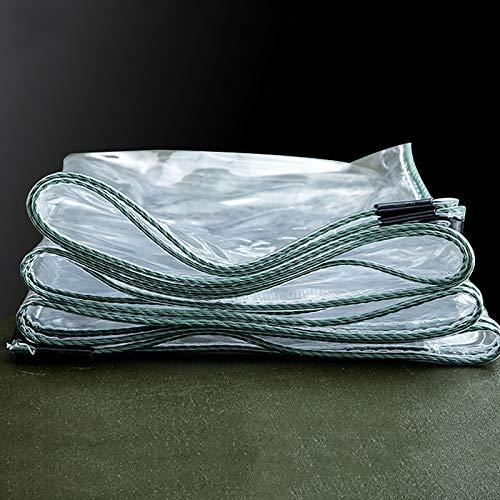 SOME Lona Plástico Transparente, 0.5mm Impermeable, Lona de PVC Transparente, para El Paño Lluvia Balcón Ventana Patio Al Aire Libre Toldos