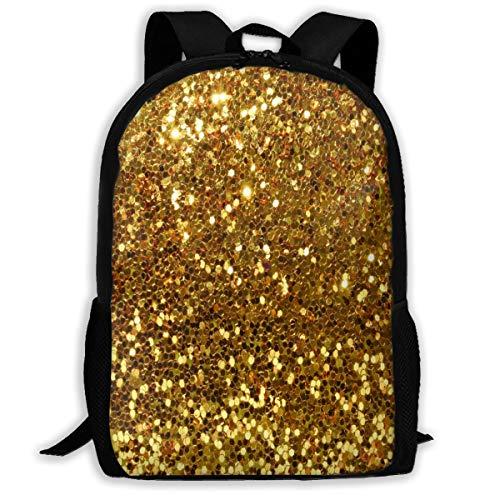 Backpack,Schoolbag Traveling Backpack,Laptop Bag Best Gold Glitter Casual Backpack School Backpacks Travel Bag Shoulder Bags,Multifunctional Rucksack for Student