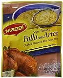 Sopa Maggi Pollo con Arroz (4 Pack) Chicken Flavored Rice Soup Mix