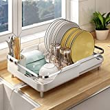 Dish Drying Rack, Stainless Steel Dish Rack and Drainaboard Set,...
