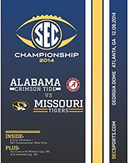 2014 SEC Championship Official Program- Alabama Crimson Tide vs. Missouri Tigers-Mint