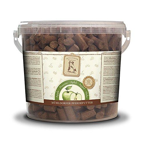 Mühldorfer Pferdefutter Golosinas de Manzana para Caballos, 3 kg