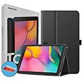 Samsung Galaxy T290 Tab A 8-Inch 32 GB Wifi Android 9.0 Touchscreen Tablet Black (2019) International Version Bundle - Case, Screen Protector, Stylus, 32GB microSD Card and Mobile Deals Cleaning Cloth