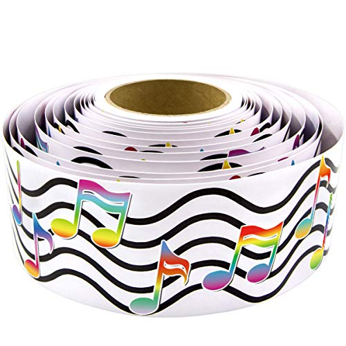 Musical Notes Bulletin Board Border Straight Roll Border for Music Room Classroom Home Decoration 36ft