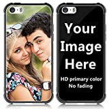 SHUMEI Custom Case for Apple iPhone 5 or 5S Glass Cover 4.0 inch Anti-Scratch Soft TPU Personalized Photo Make Your Own Picture Phone Cases
