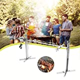 53' Extra Large Electric Rotisserie Kit, Load Up to 125LB, 20W Powerful Motor Automatic Stainless Steel Camping Spit Grill Roaster For Lamb Hog Pig, Height Adjustable