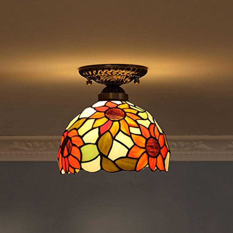 WYQLZ Kronleuchter Cafe Aisle Sunflower Deckenleuchte pastorale warme Farbe Balkon Restaurant Deckenleuchte E27