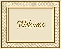 Clean Room Welcome デザイナー スティッキーマット 25.5インチ x 31.5インチ (マット1、パッド30枚)