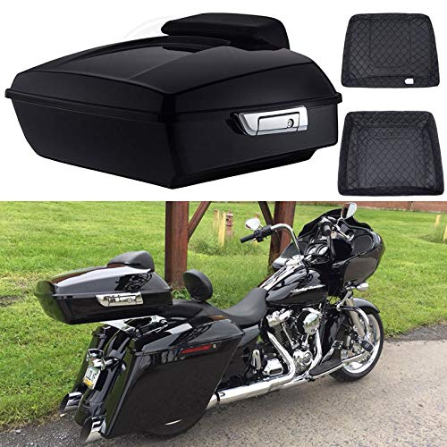 Fantastic Prices! Advanblack Vivid Black Chopped Tour Pack Tour-Pak Liners Fit for Harley Touring Ro...