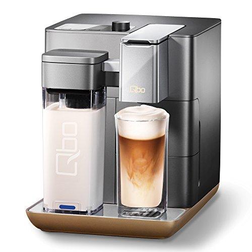 Tchibo Qbo You-Rista Kaffee Kapselmaschine inkl. Milchaufschäumer - Amazon Alexa kompatibel (Echo Dot) Grey Matt