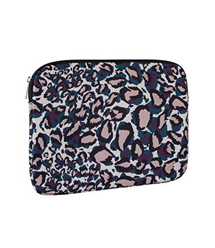 SIX Laptop-Tasche aus unempfindlichem Stoff in trendigem Leoprint mit silbernen Details (703-634)