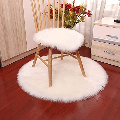XKMY Luxury Soft Tucson Mall Small Artificial Chair Cover High order Bedr Sheepskin Rug