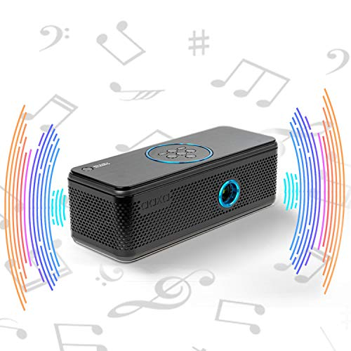 AAXA BP1 Speaker Projector � Bluetooth 5.0, Battery Power Bank, Up to 6 Hour Projection or 24 Hours Playtime, USB C Mirroring, Onboard Media Player, HDMI, DLP Portable Mini LED Projector