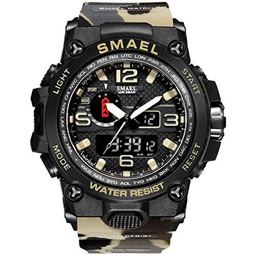 Smael Reloj Militar para Hombre Reloj De Pulsera Impermeable De 50 M Reloj De Cuarzo LED...