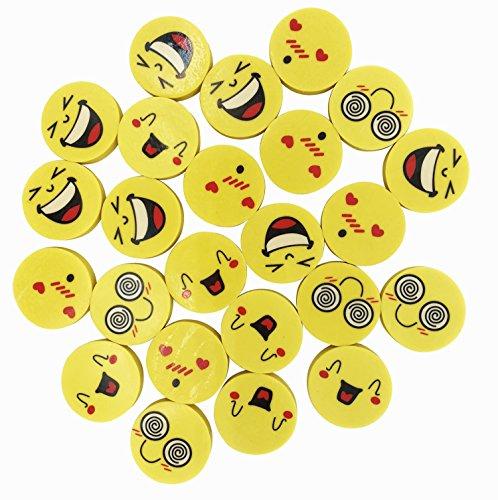 Emoji-Radierer 24/Set, umweltfreundlich Top beliebtesten Emoji-Faces zufällige Großartig Für Klassenraum Preise & kleine Geschenke für Kinder