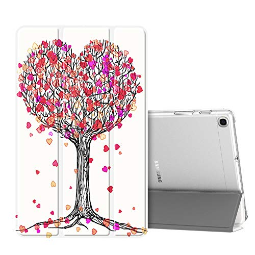 FINTIE Case for Samsung Galaxy Tab A 10.1 2019 T510 / T515 - Lightweight SlimShell with Translucent Frosted Stand Back Cover for Samsung Galaxy Tab A 10.1-inch Tablet 2019 Release, Autumn Love