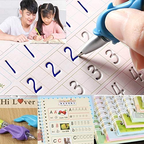 RANSHUO Magische Schreibpaste Kinder Kindergarten Grooves Post vor der Schule Hard Pen Schreibbrett Suchbuch Studenten Kinder Kunst liefert Kindergeschenk Pens&All