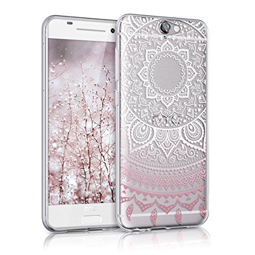 kwmobile Hülle kompatibel mit HTC One A9 - Hülle Handy - Handyhülle - Indische Sonne Rosa Weiß Transparent