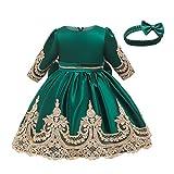 LuckyGirls Élégante Petite Fille Robes Princesse Robe De Mariée Cérémonie Enfants Filles Baptême Robe Carnavals Casual Robes À Manches Longues