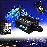 Kit de Cable de Luz de Fibra Óptica, 16W RGB Juego de Luces de Fibra Óptica de Plástico Kit de Decoración de Techo con RF y Cables de Fibra Óptica, 150PCS * 0.75MM * 2M
