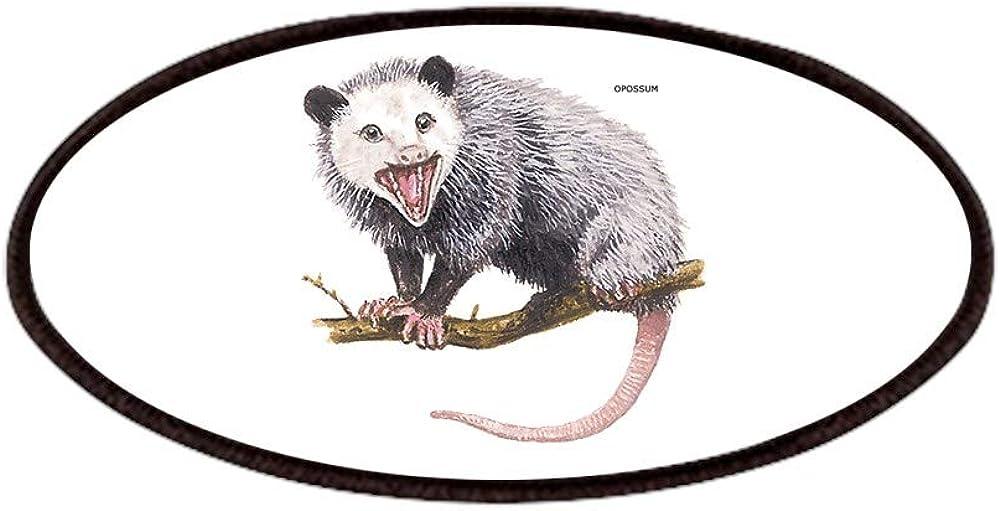CafePress Opossum Possum Animal free Patches 4x2in Patch Rapid rise Nov Printed