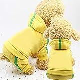 Tuzi Qiuge 2 Pullover for Hunde, Kleidung, Wollpullover, warme Pullover, Sweatshirt-Jacke Baumwolljacke 4 Meter Größe: S (blau) (Color : Yellow)