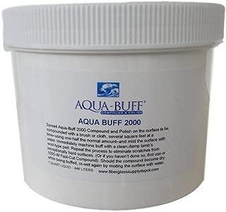 Aqua Buff 2000 ONE Step Buffing & POLISHING Compound, Fiberglass Coatings, Inc, DIY, Boat, Gel Coat, CAR Paint, AUTO, Metal, Aluminum, Professional Grade for Professionals, 1 Quart