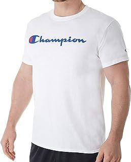 Champion Men's Classic Jersey Graphic T-shirt, WHITE, Large