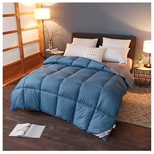King Size Duvet - 13.5 Tog Luxurious Goose Feather & Down Quilt, 40% Down King Size Bed Duvet, 100% Cotton Shell, Anti-dust Mite & Feather-proof Fabric Anti-allergen (1,200x230cm5KG)