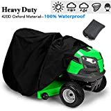 Indeedbuy Waterproof Tractor Cover, Riding Mower Cover-Heavy Duty 420D Polyester Oxford, Durable, UV and Water Resistant Cover for Your Ride On Garden Tractor 72'' x 46'' x 54''