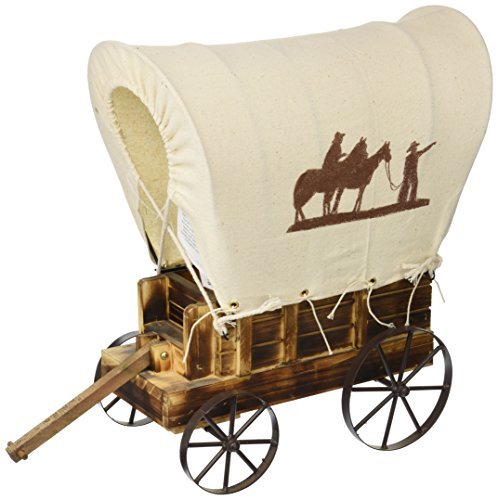 Koehler Home Decorative Western Wooden Wagon Table Charming Prairie Figurine Lamp