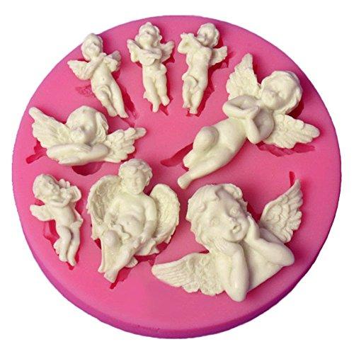 Stampo in silicone a forma di angelo, per cupcake, decorazione fai da te.