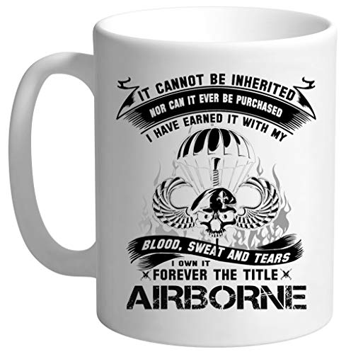 Airborne Infantry Mom Airborne Jump Wings Airborne Badge Airborne Brot Hombre Blanco Taza