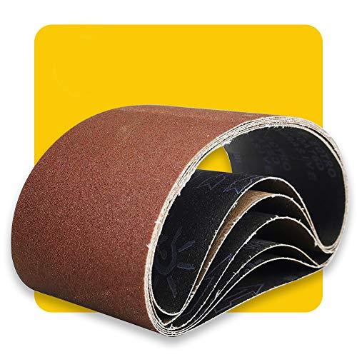 150mm x 1220mm 150mmx1220mm Sanding Belt Assorted Pack ,6 Pcs(2 Each of 80 120 150 Grits) Aluminum Oxide for Sander