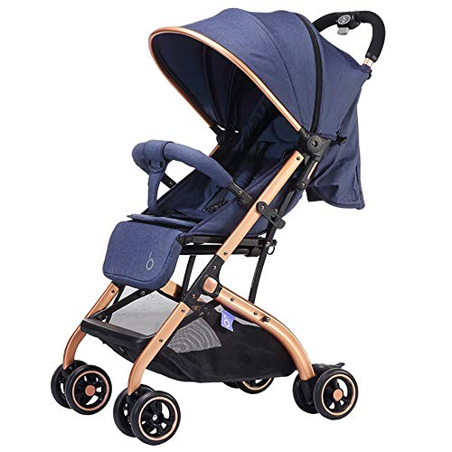 Why Should You Buy WANGLXST Baby Stroller, Safe Travel System Pushchair, Car Seat Carrycot Foldable, Buggy Baby Child Pushchair, Blue