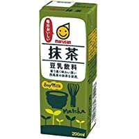 マルサン 豆乳飲料 抹茶 200ml×24本×3ケース 合計72本