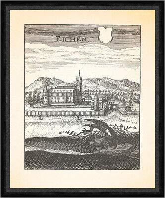 Kunstdruck Faks_Merian 0030 - Caseta de madera de roble Eichhof Bad Hersfeld