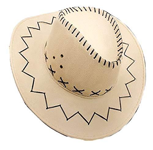 Lovelegis Sombrero de Vaquero - Hombre - Tejano - Sheriff - Carnaval - Color Beige - Idea de Regalo para Navidad y cumpleaños