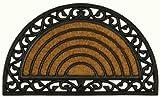ZERBINO in fibra di cocco tappeto ZERBINO GOMMA ZERBINO cocco antico nostlgie ottica a semicerchio Art Deco Verona