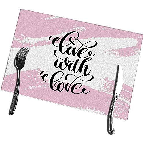 sunnee-shop placemats voor eettafel set van 4 Live with Love
