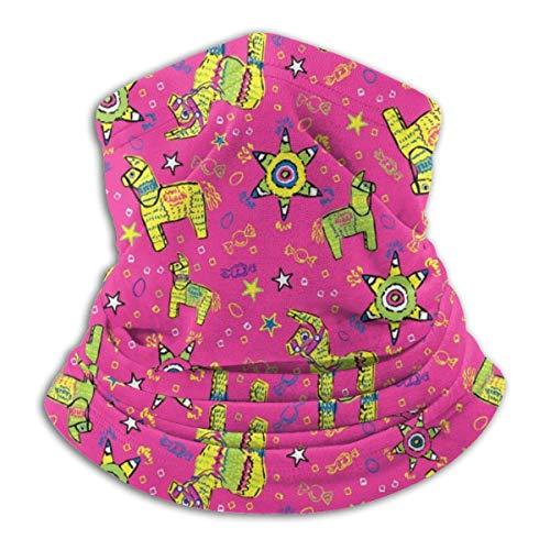 Gwrix halsdoek, naadloze halsdoek, ronde sjaal, slangschaal, feestelijke roze pinata gezichtswarmer, slangwarmer, sporthoofddoek, gezichtsscarf voor stof