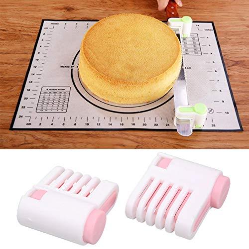 Rebanadora de pan Rebanadora de tostadas ajustable multifuncional para sándwich para cocina(Outer white inner powder 52036-C)