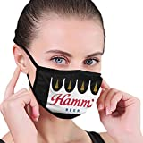 Reusable Hamm's Beer Face Mouth Mask Washable Face Cover Balaclave Unisex Mouth Guard Black