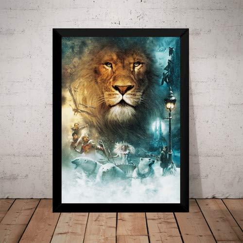 Quadro Filme As Cronicas De Narnia Arte Poster Moldurado